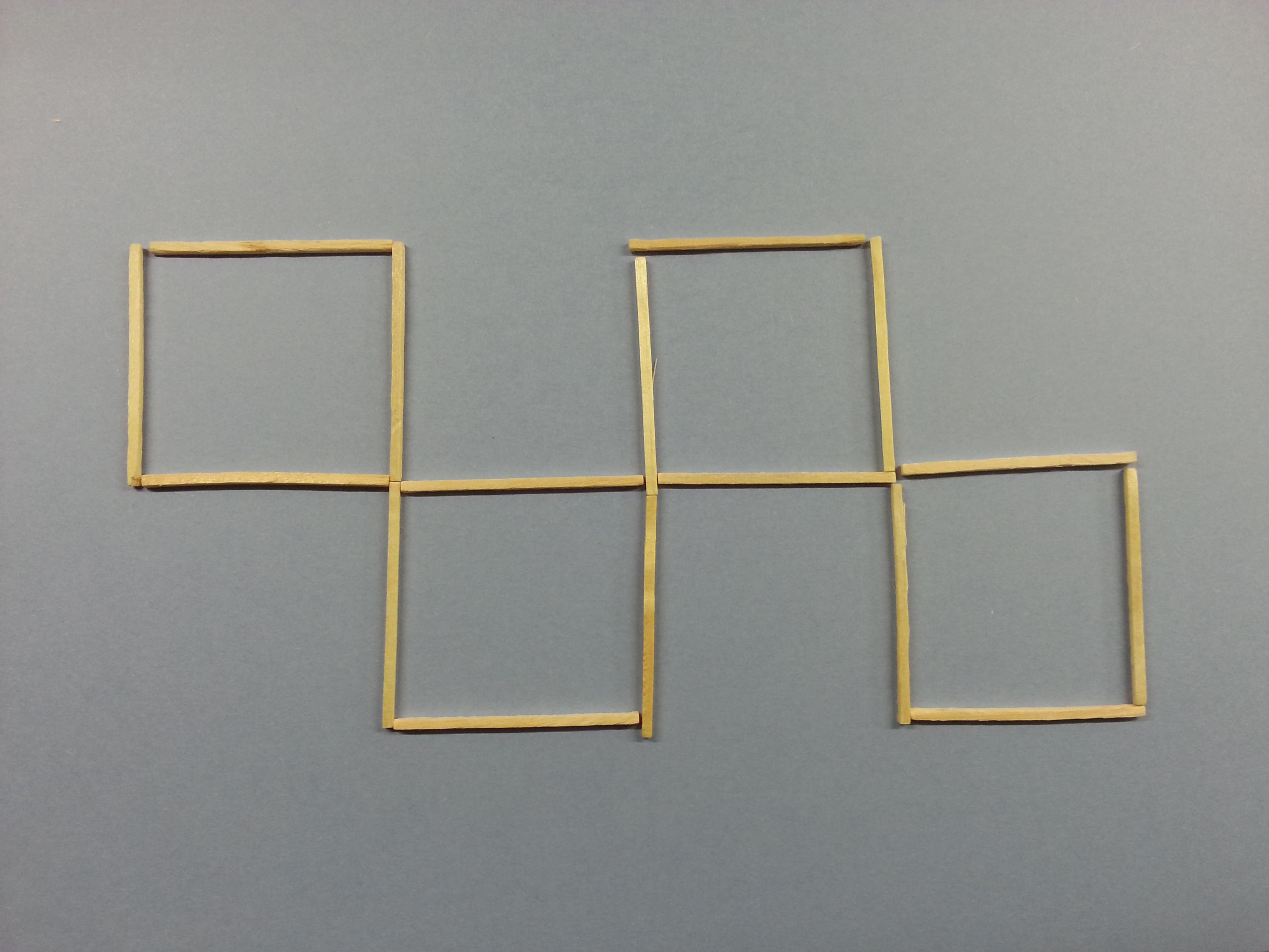March puzzle, four squares.