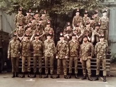 With my Fusiliers, Belfast 1982