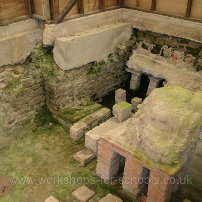 Hypocaust in the bath house at Binchester