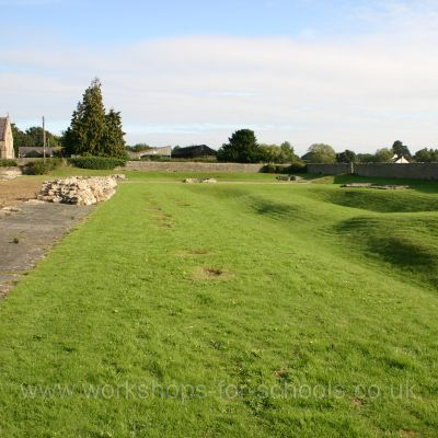 Piercebridge fort wall and ditch