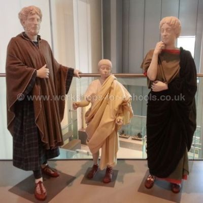 Roman clothing display