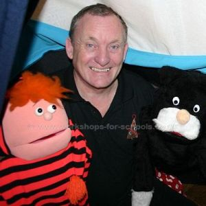 Ron with puppets