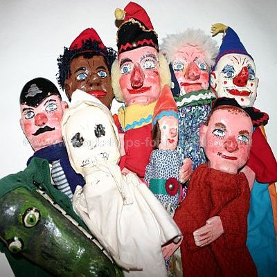 Vintage Punch and Judy puppets